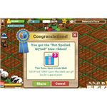 Farmville ribbons- not spoiled,gifted, blue- from 21 different gifts in my gift box