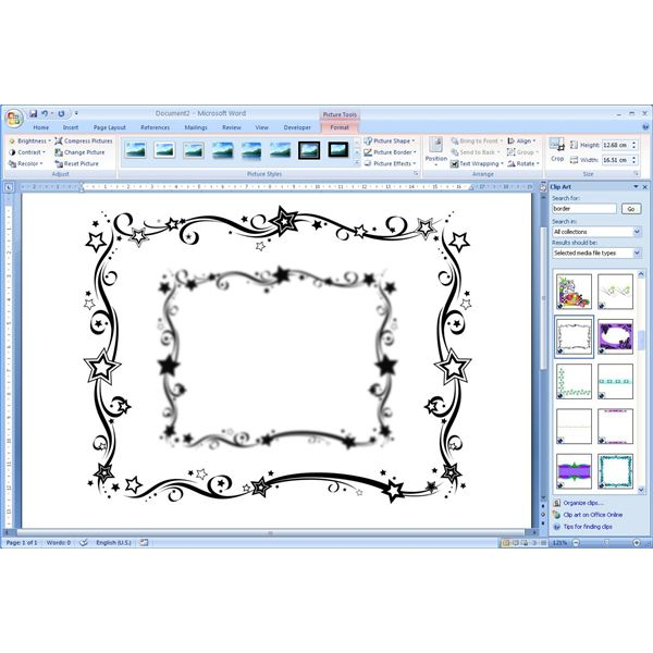 How To Add Free Borders Clip Art Microsoft Word Documents for Office ...