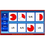 Math Fraction Games - Fraction Matching