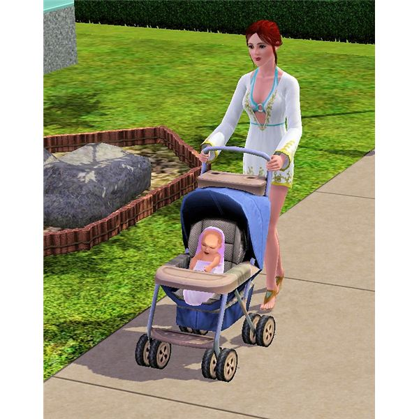 The Sims 3 stroller