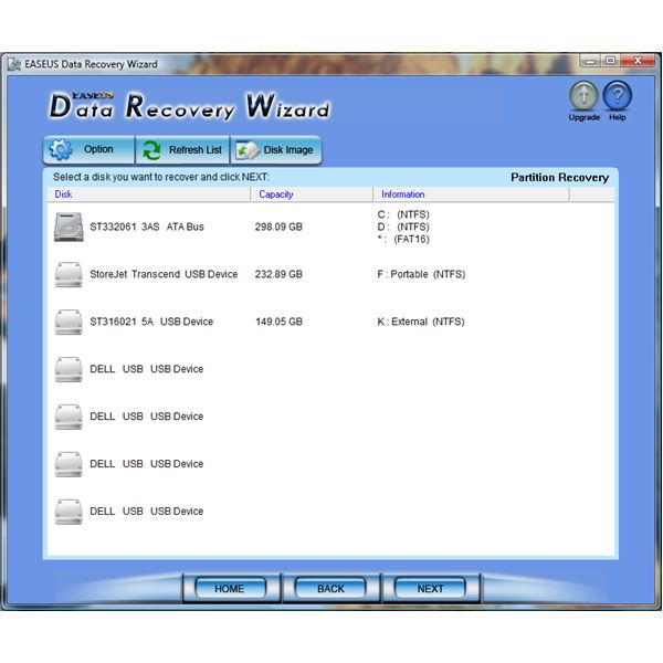 Partition Recovery Option