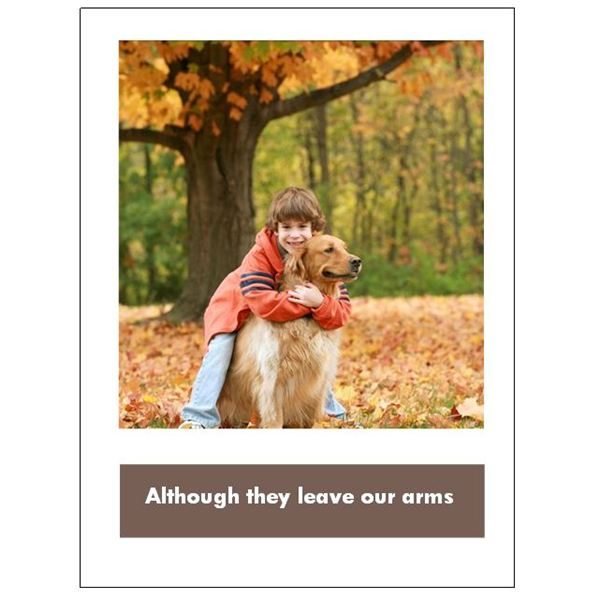 graphic regarding Free Printable Sympathy Card for Loss of Pet called 5 Cost-free Doggy Sympathy Playing cards for Microsoft Publisher: Obtain