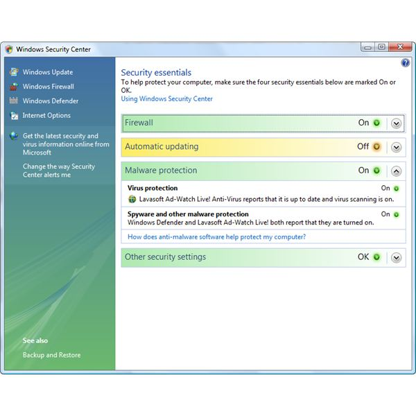 Ad-Aware Report its Status in Windows Security Center