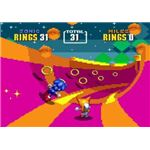 One of the Special Stages in Sonic 2.