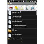 Astro file manager for Android on an HTC Hero