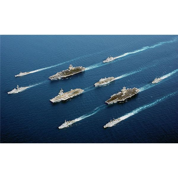 French, British, American Carriers