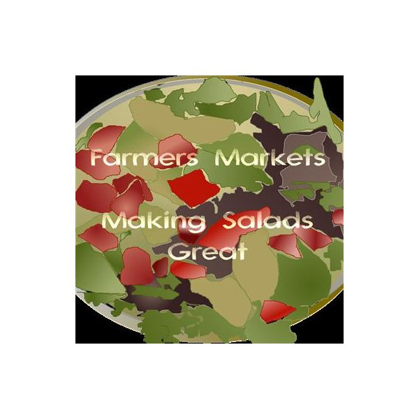 Farmers market canvas bag template for fabric printing