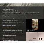 Screenshot Google Art Project Home Page