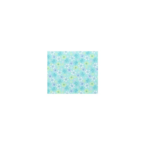 Green & Blue Floral Pattern