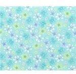 Green & Blue Floral Pattern