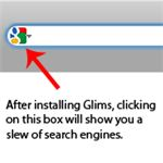 Glims will let you select search engines.