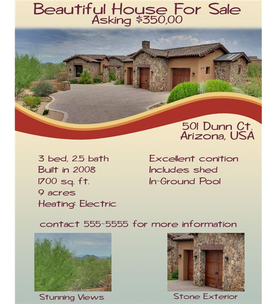 Sold Tips For Designing A Real Estate Flyer
