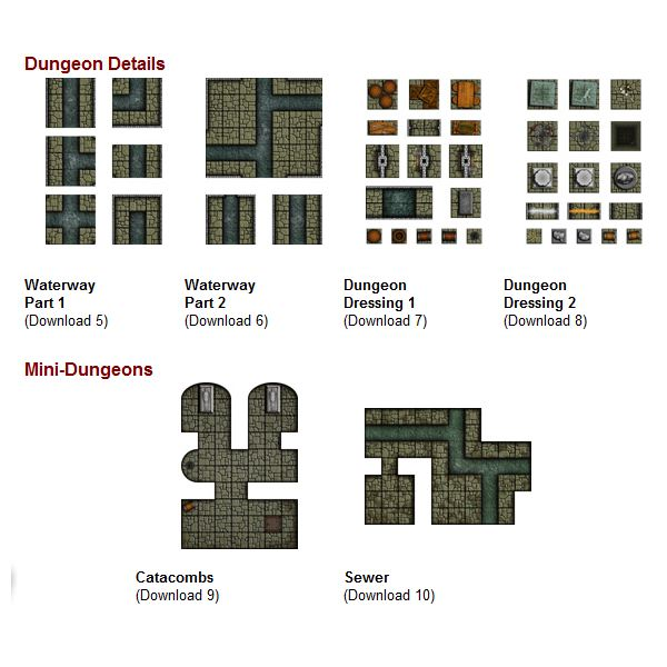 Looking for Dungeon Tiles, but not sure where to get them