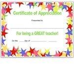 Stars Teacher's Certificate for Publisher