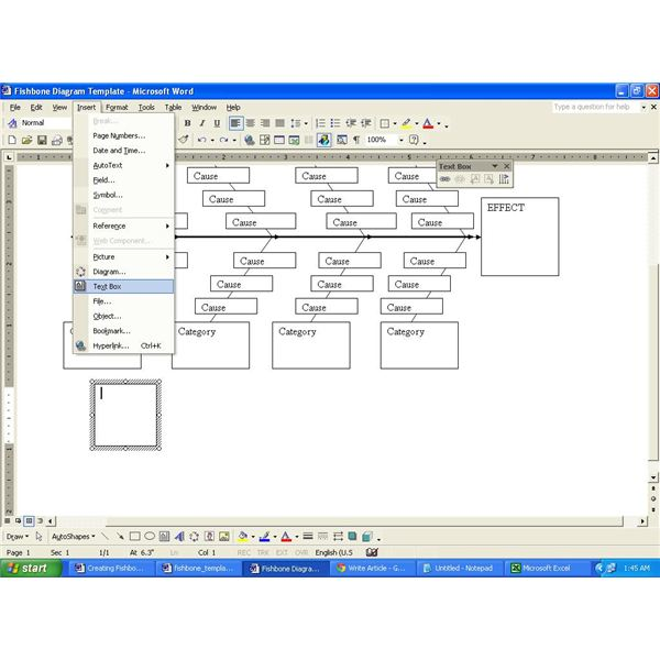 Managing Projects Download A Fishbone Diagram Template For Word Brighthub Project Management