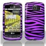 LG Optimus S Purple Zebra