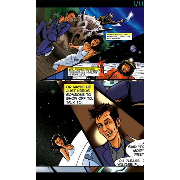 using the Comic Reader Mobi Windows Mobile web comic reader you can zoom captions and drag sections to magnify