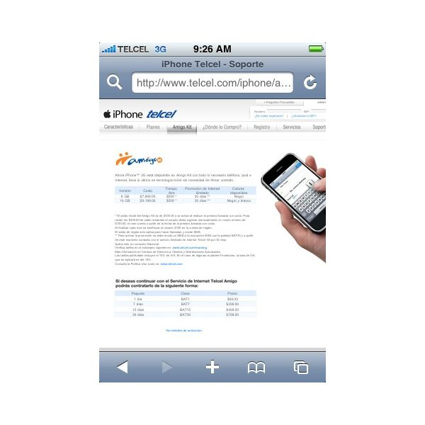 Surfing Internet with Apple iPhone