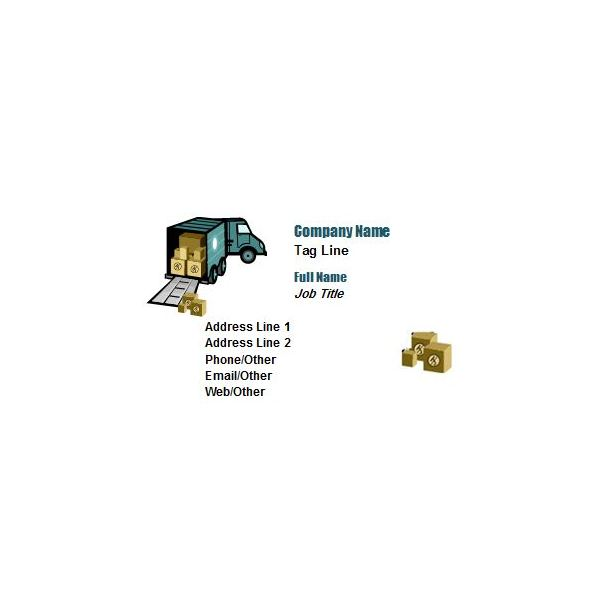 Business Card for Movers