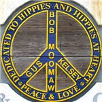 Hippie memorial peace sign