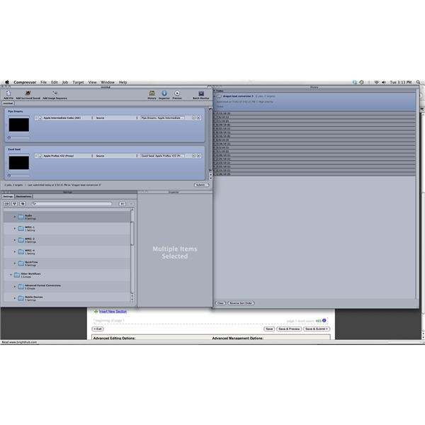 Setting Apple's Compressor to Compress Multiple Video Files