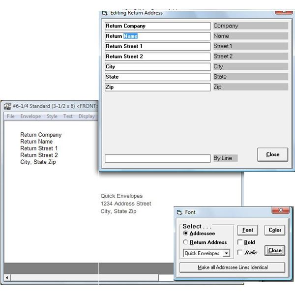 Quick Envelopes is a simple to use free envelope printing software option
