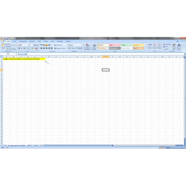 how to create a depreciation schedule in excel