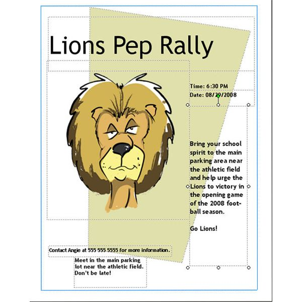 how to make a pep rally flyer in microsoft publisher
