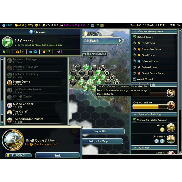 Guide to Civilization 5 City Management