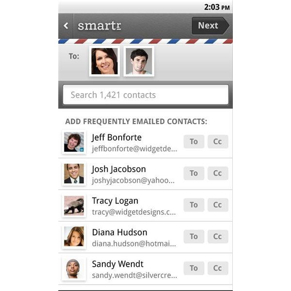 Smartr Contacts Search