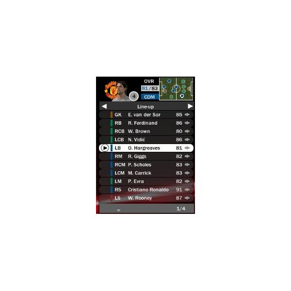 Learn to Play With Your Favorite Team in FIFA09 - Mancheser United - Squad