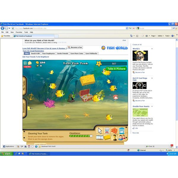 Facebook fish world game review learn how to manage your for Fish world on facebook