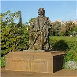 Statue of Christopher Columbus in Funchal
