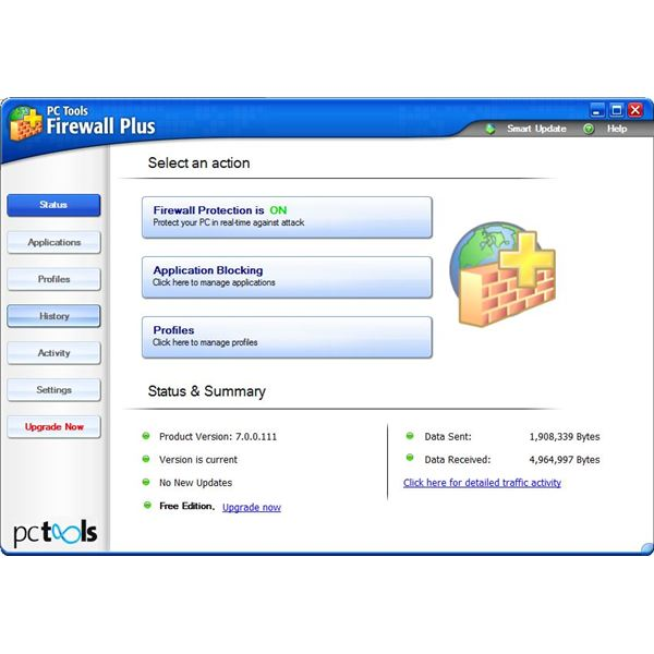 PC Tools Free Firewall Plus 7 Features