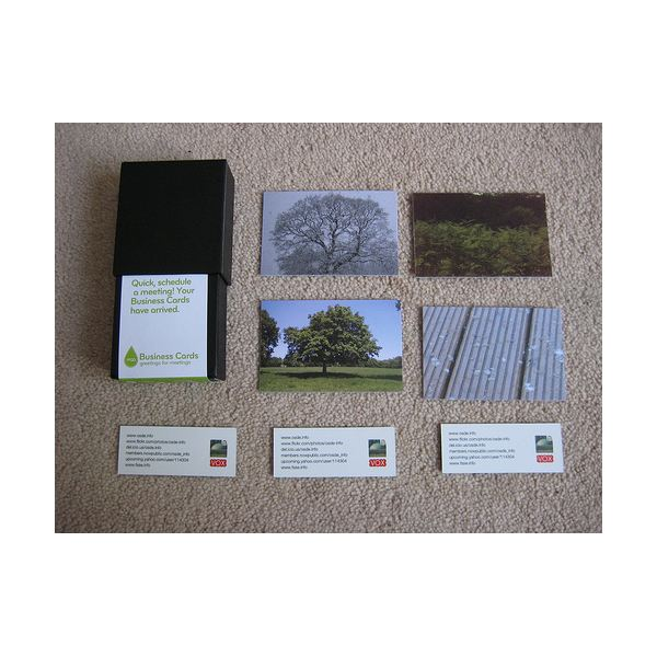 A set of business cards.