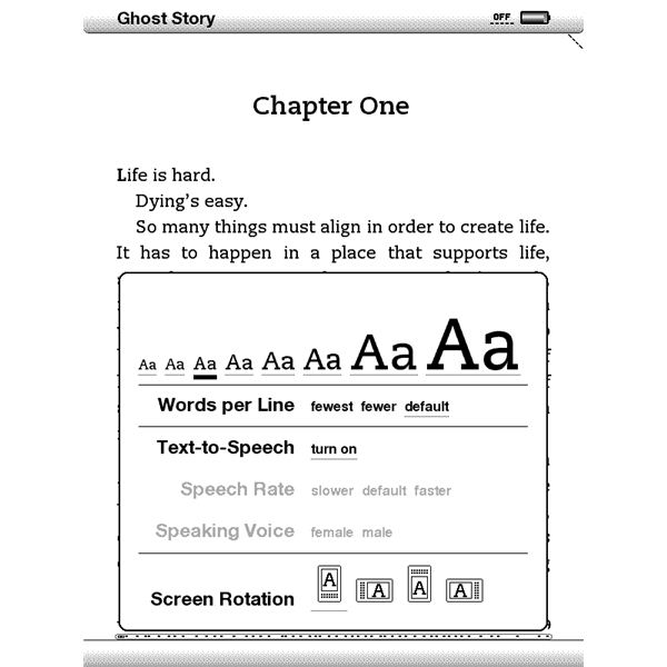 Kindle Screen shot