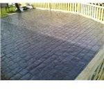pattern imprinted concrete (preparation)