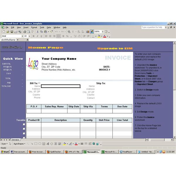 Find Free Accounting Software For Excel - Bookkeeping and invoice software
