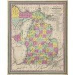 1853 Map of Michigan (Image Credit: Wikimedia Commons)