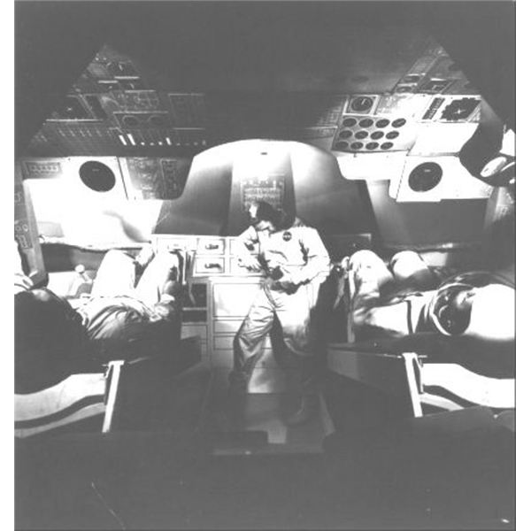 Interior of Command Module–note middle couch folded