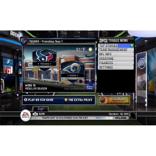 How To Sim In A Game On Madden 11
