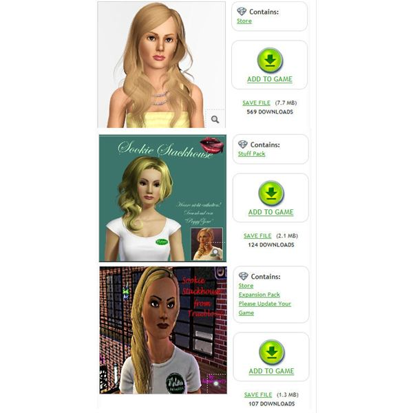 The Sims 3 True Blood Sookie Stackhouse