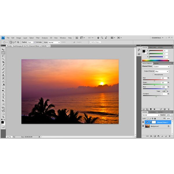 Vibrant Colors in Photographs - Adobe Photoshop Tutorial - Blue Channel