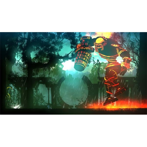 You'll encounter massive bosses that require you to make full use of your light and dark abilities.