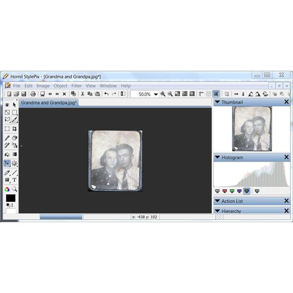 Free Old Photo Retouching Software: Hornil StylePix