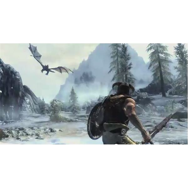 Skyrim-Dragon-Battle