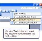 Work Menu - Open document
