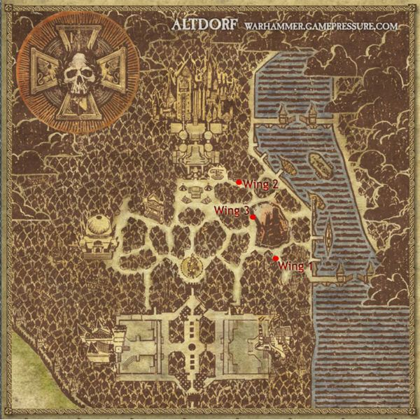 The Locations of the Altdorf Sewer Wings