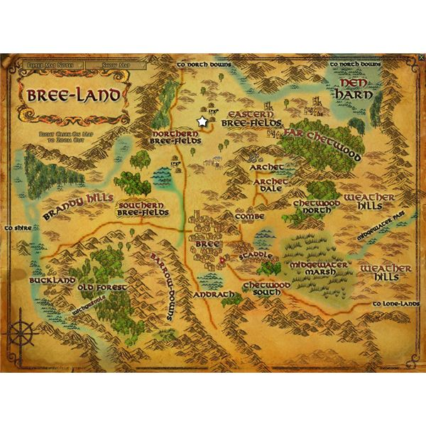 The Breeland map, showing the horse farm location.