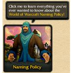 Characters Must Follow the WoW Naming Policy
